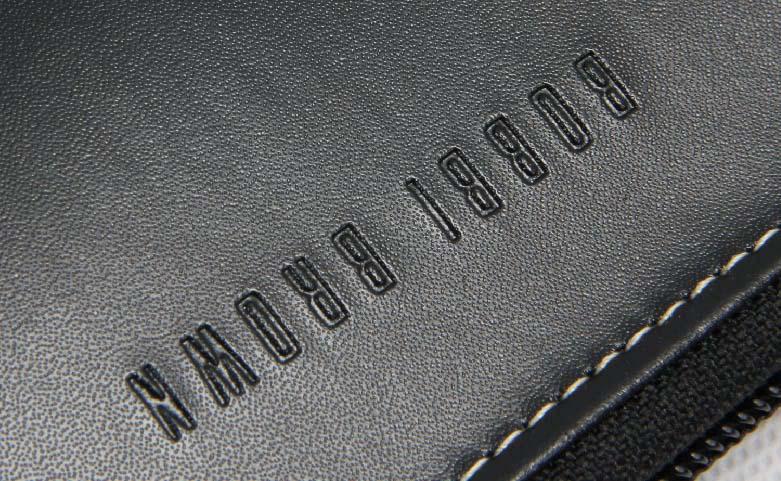 Women's Long Black Faux Leather Cosmetic Bags Logo