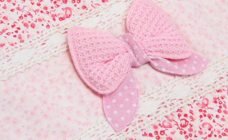 Cute Pink Bowknot Drawstring Underwear Bags Ribbon
