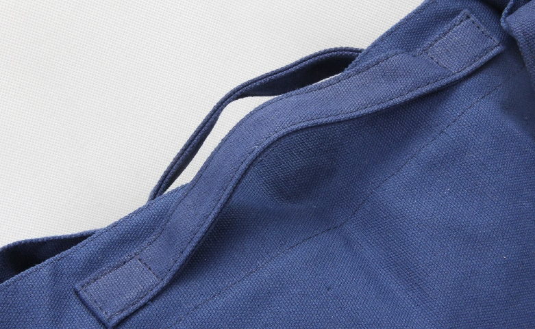 Deluxe Navy Blue Canvas Tote Bags Handbags With One Strap detail