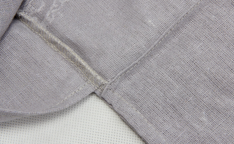 Lilac Cotton Underwear Bags With Flaps Material