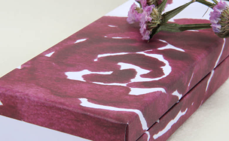 Purple Roses Clamshell Gift Paper Boxes Print