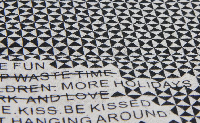 Reusable Geometric Cotton Tote Bags Print