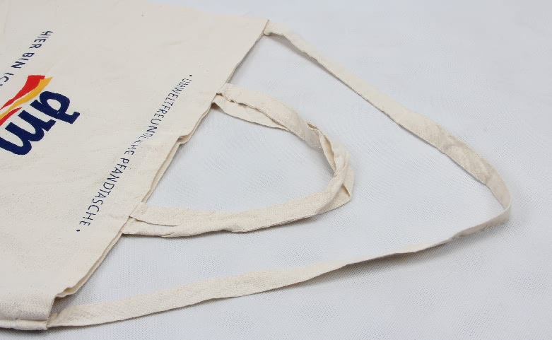 Supermarket Cotton Shopping Bags With One Strap Handle