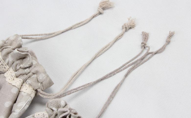 Set Of 2 Linen Cotton Drawstring Bags Technique