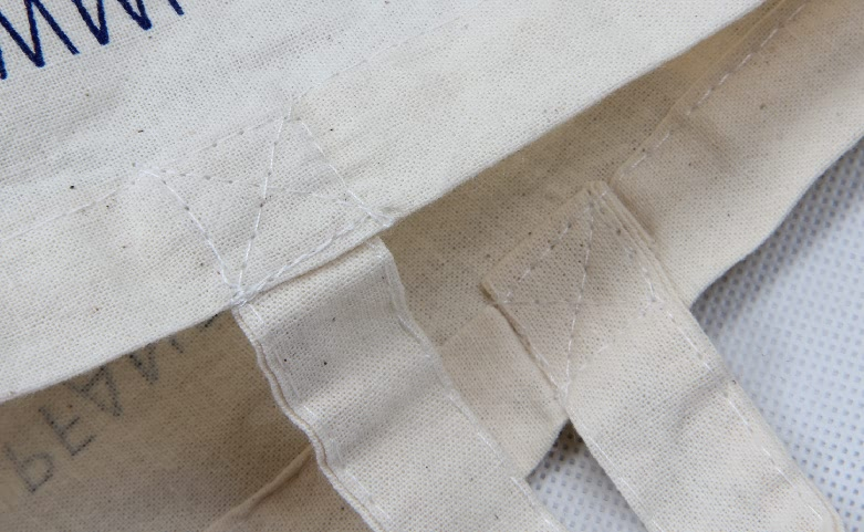 Supermarket Cotton Shopping Bags With One Strap Detail