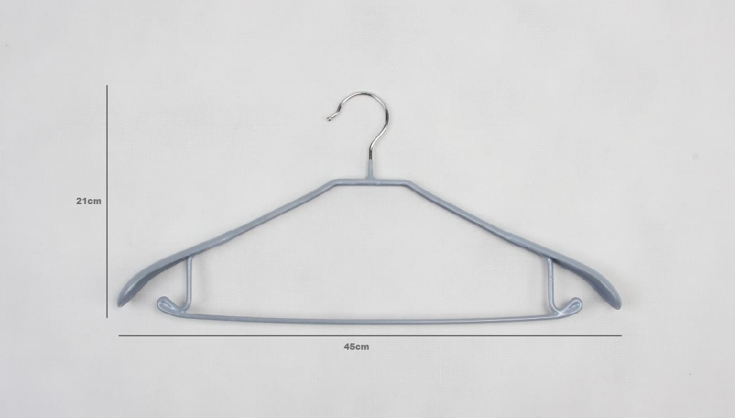 Coating Stainless Steel Suit Garment Hangers Set size