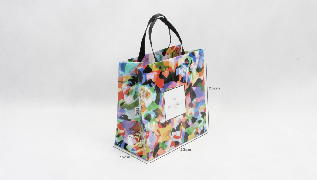 Colorful Women's Garment Paper Bags size