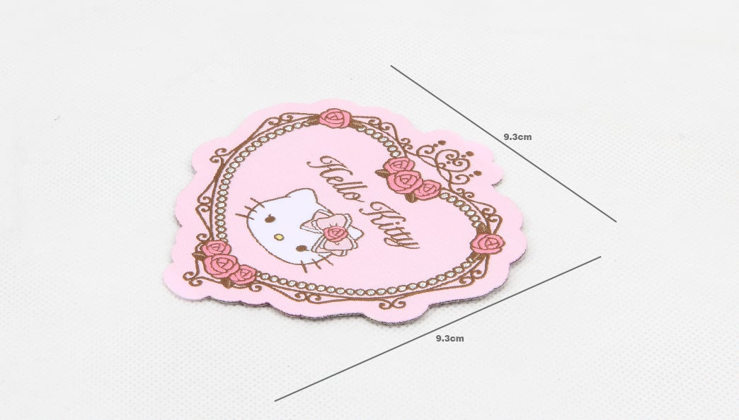 Cute Fancy Heart Shape Clothing Woven Labels size