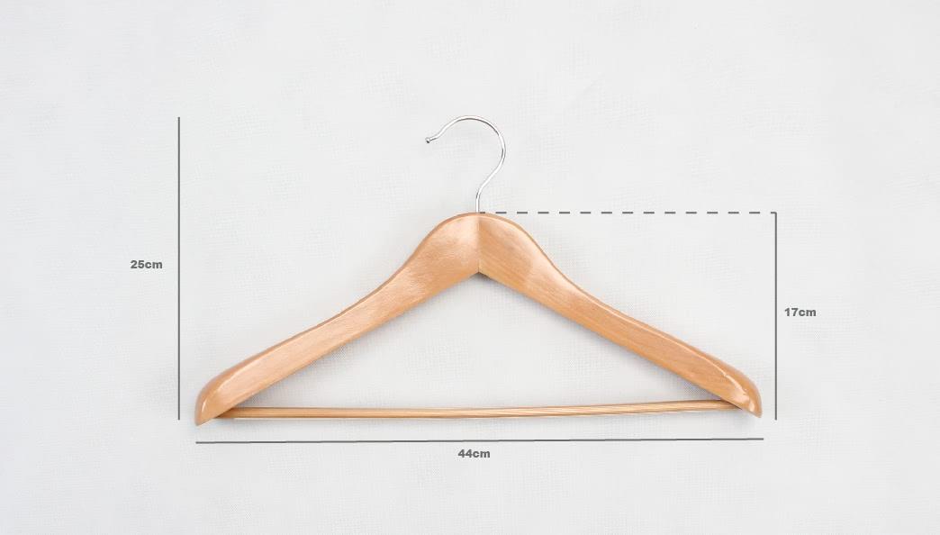 Elegant Natural Wooden Garment Hangers size
