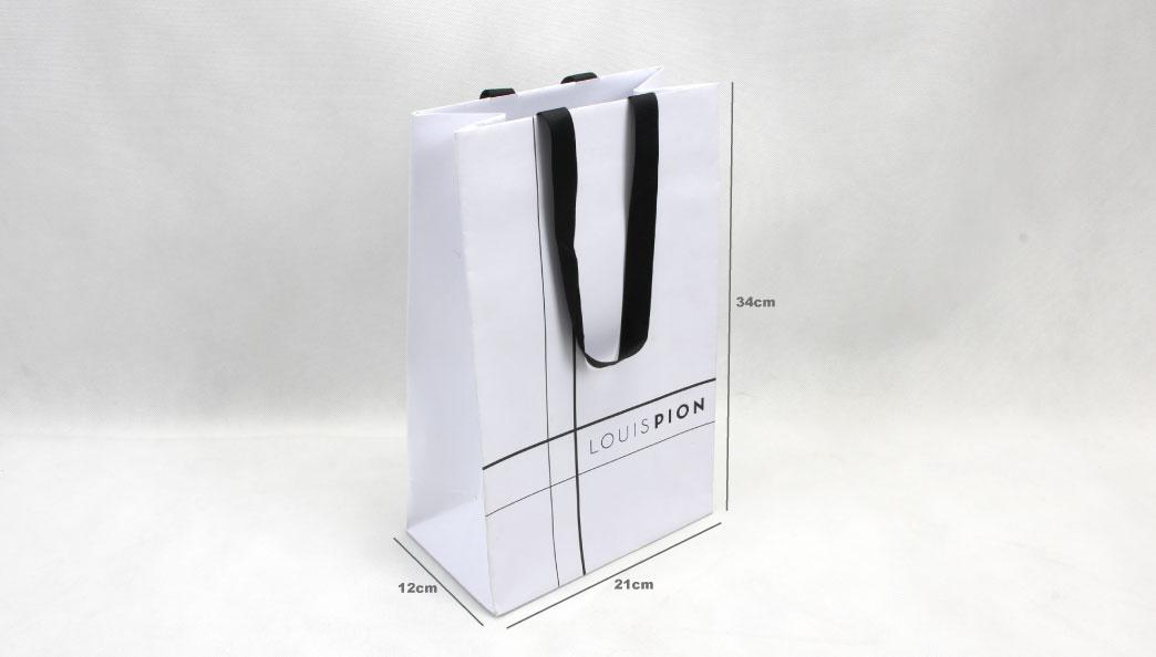 Elegant Snow White Gift Paper Bags size