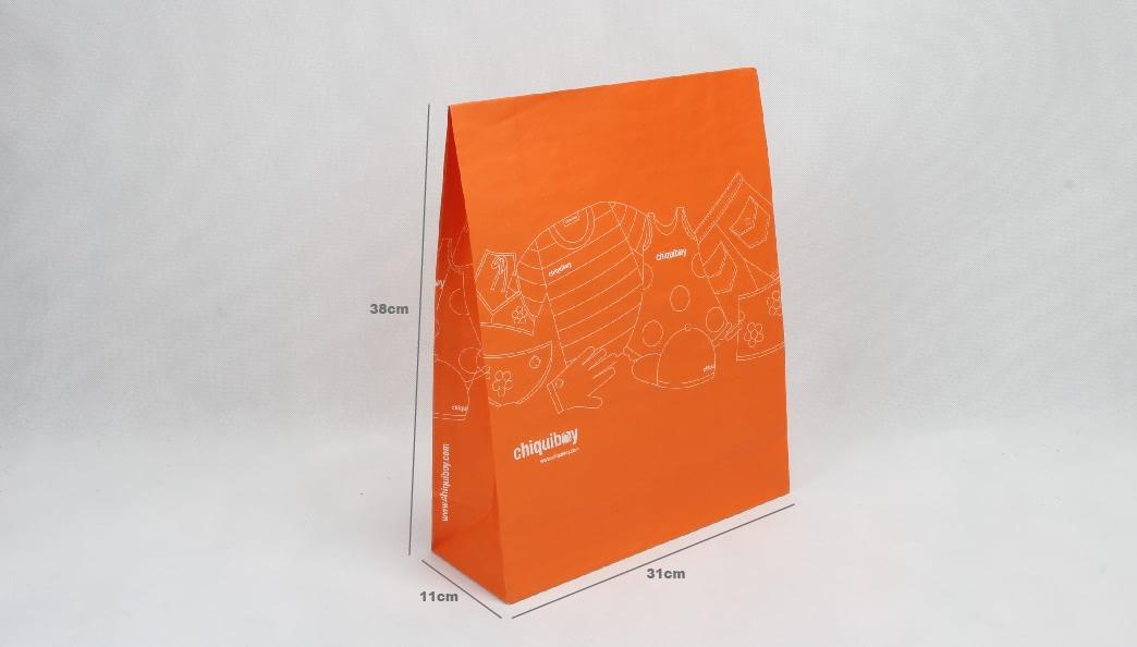 Envelope Orange Garment Paper Bags size