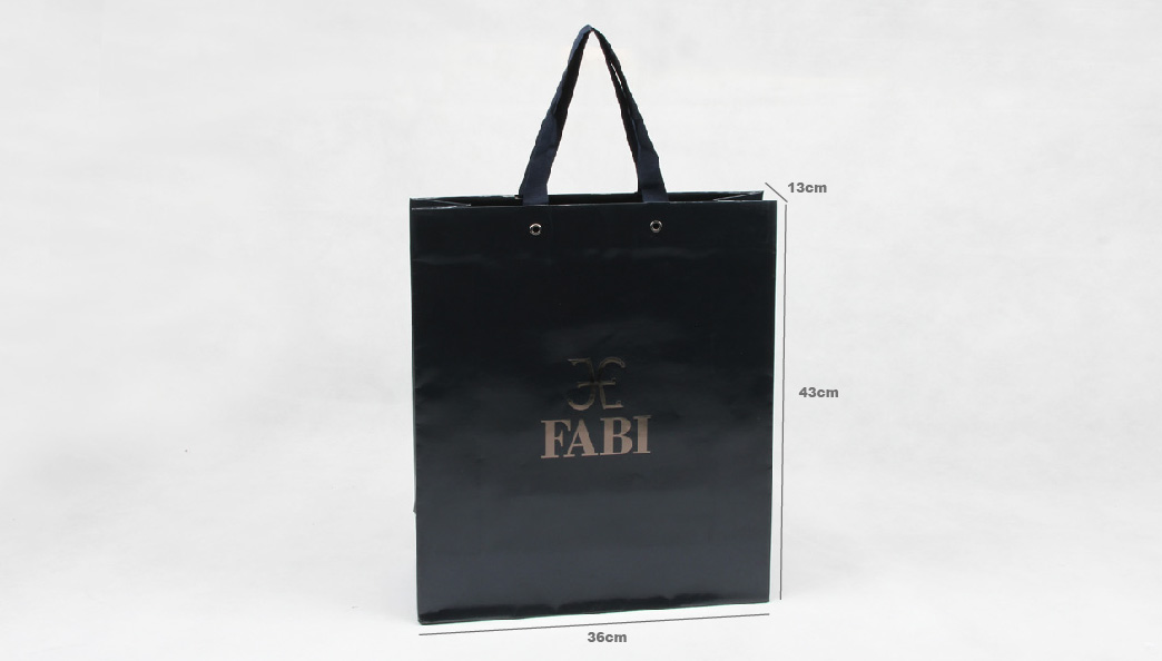 Gloss Black Jewelry Paper Bags size