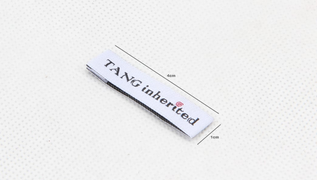 Great Quality White Apparel Woven Labels size