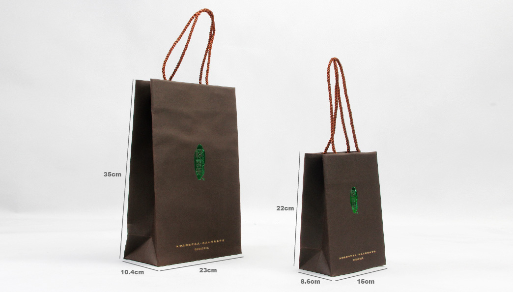 Green Ecology Food Paper Bags Set size