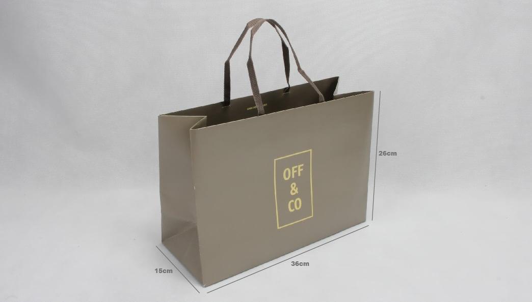 High End Fashion Garment Paper Bag size
