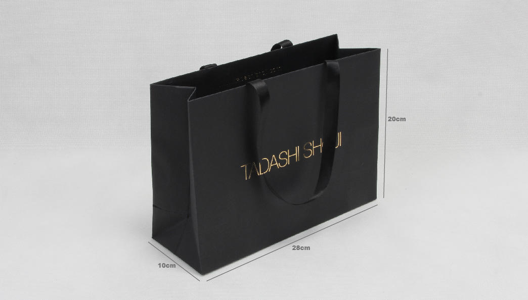 High End Luxury Black Garment Paper Bags size
