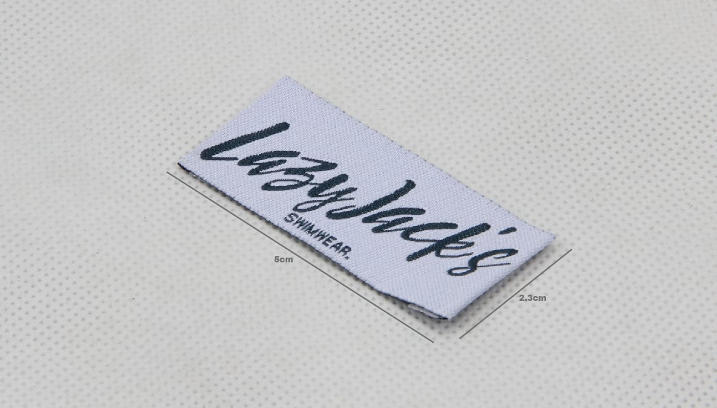 High Quality Woven Swimwear Labels size