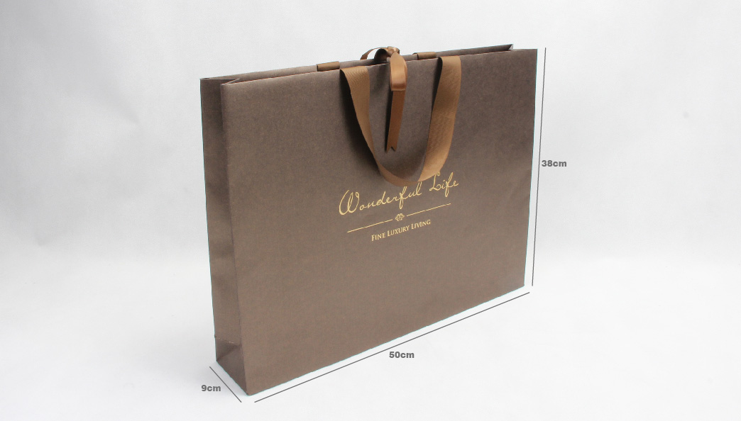 Luxury Iridescent Gift Paper Bags size