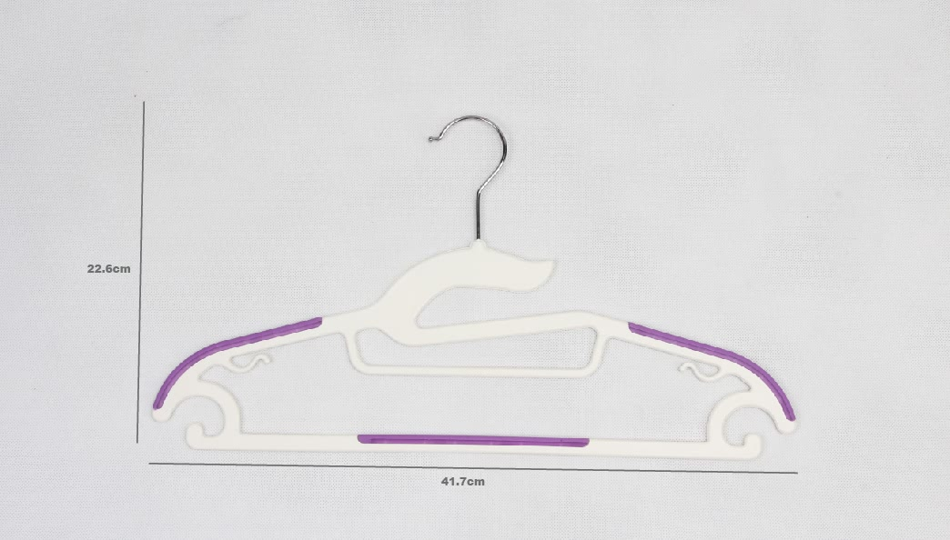 Plastic Coating Stainless Steel Garment Hangers Set size