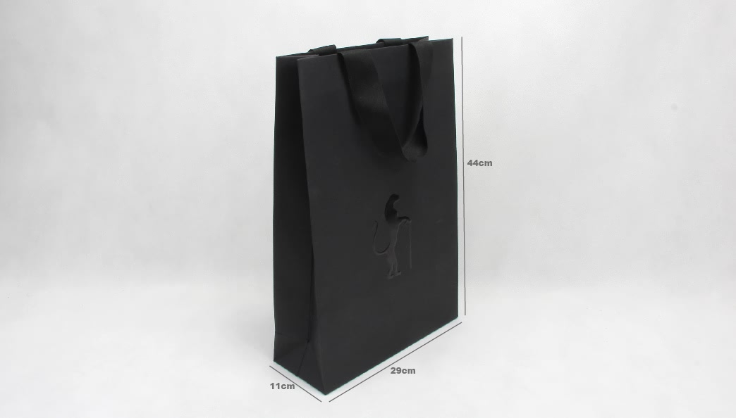 Premium Luxury Black Garment Paper Bags size