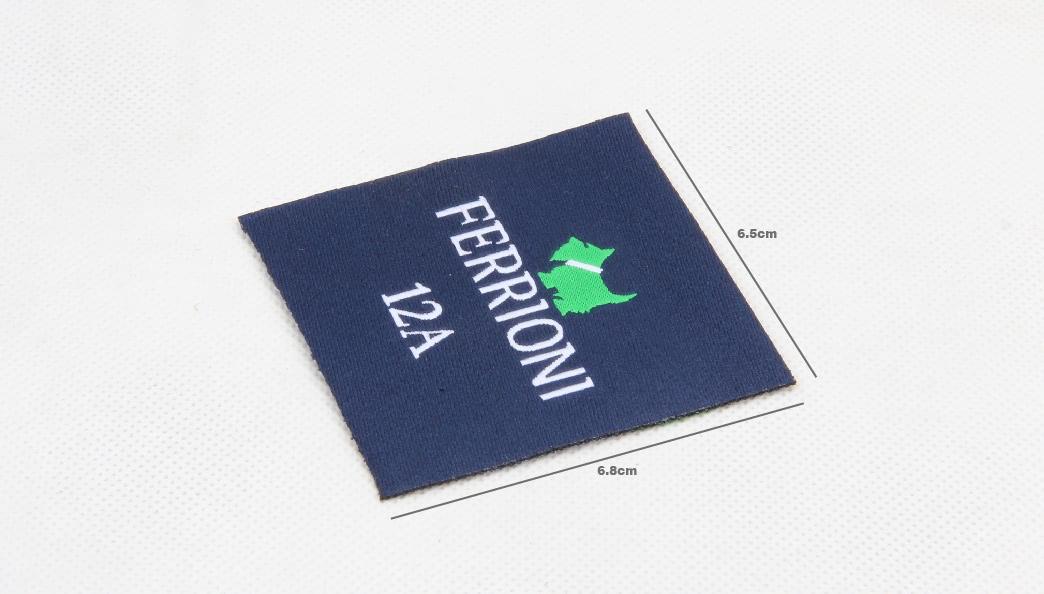 Premium Square Clothes Woven Labels size