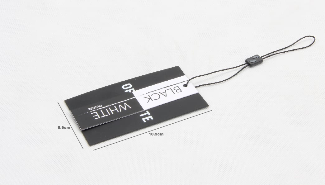 Printed Rectangular Paper Clothing Hang Tags Labels size