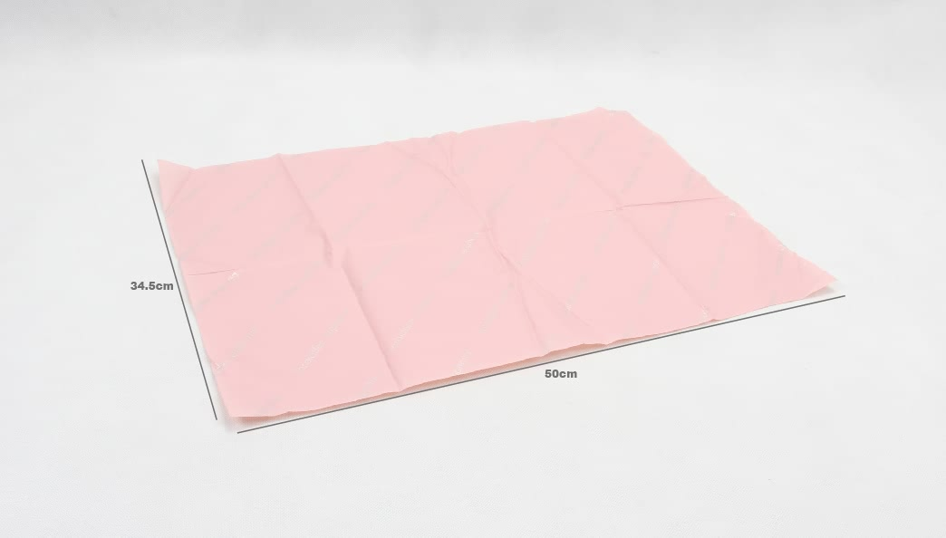 Romantic Pink Gift Wrapping Tissue Paper size