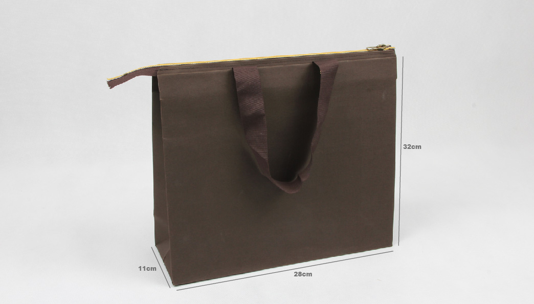 Special Brown Garment Paper Bags With Zipper Closure size