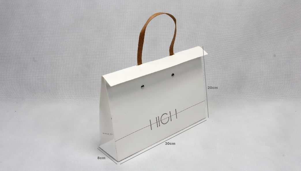 Stylish Garment Paper Bags With Flap size
