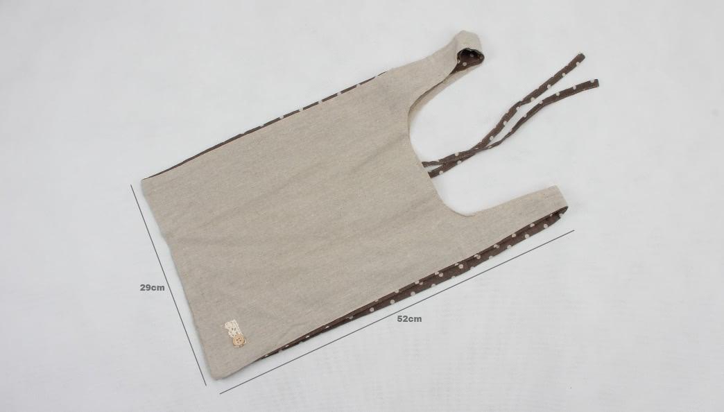 Vest Carrier Bags Linen Bags size