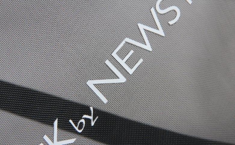 Black See-thru Mesh Nylon Tote Bags logo