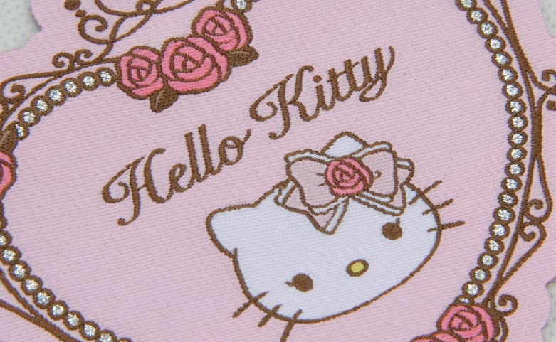 Cute Fancy Heart Shape Clothing Woven Labels material