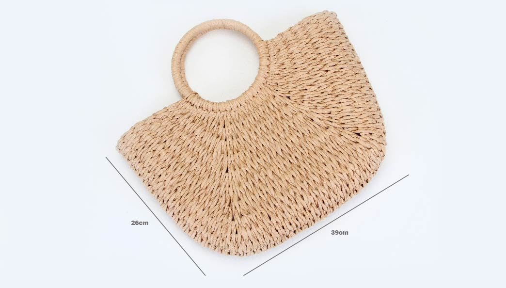 ECO-friendly Paper Woven Beach Bags size
