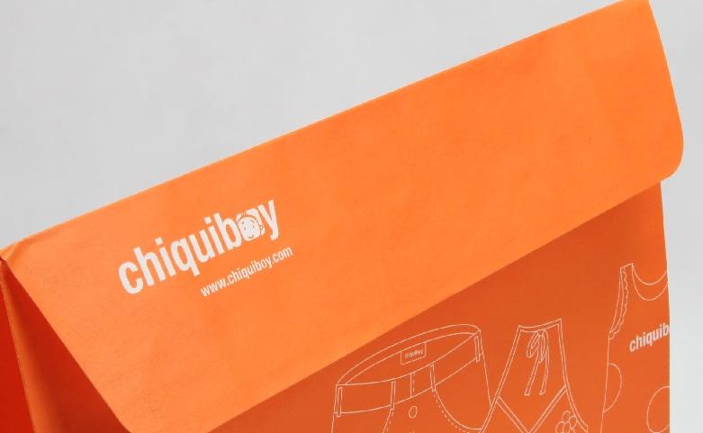 Envelope Orange Garment Paper Bags detail