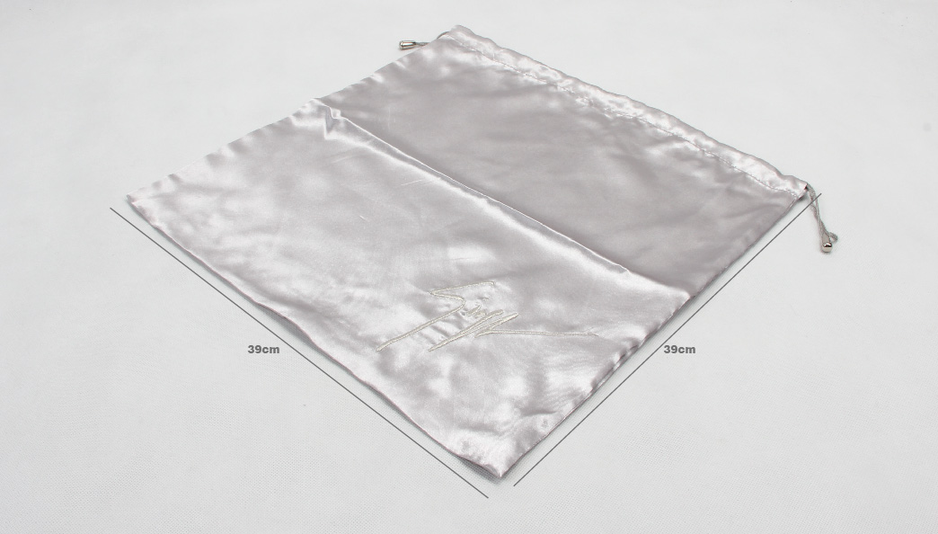 Glossy Satin Drawstring Underwear Bags size