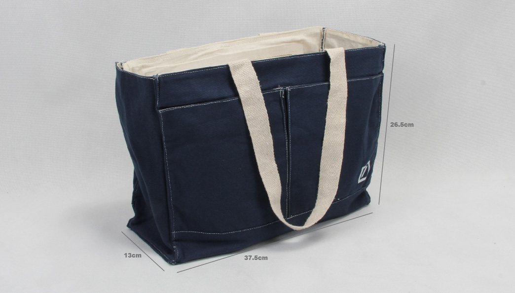 Heavy Duty Denim Blue Canvas Tote Bags Handbags size