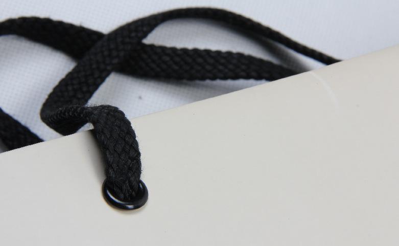 High Grade Beige Jewelry Paper Bags Set handle