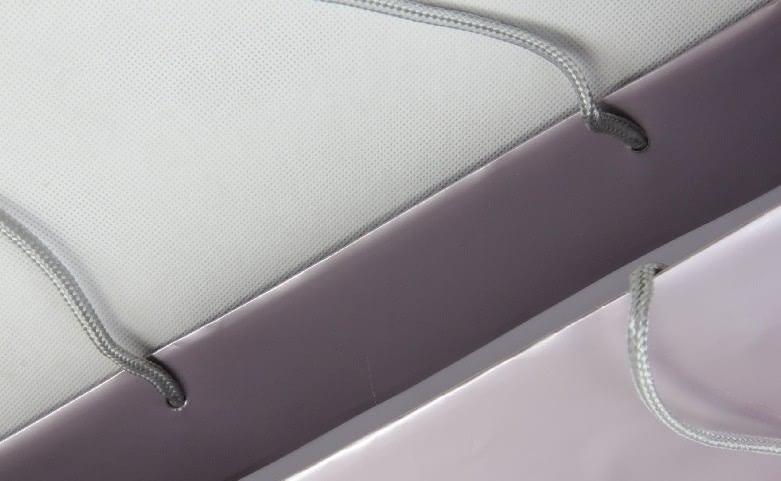 Luxury Gloss Garment Paper Bags Set handle