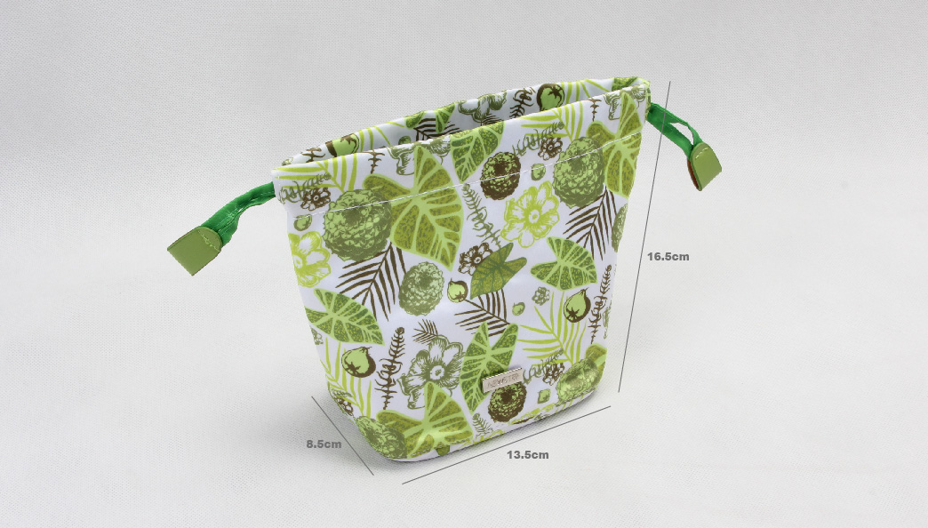 Natural Style Design Polyester Cosmetic Bags With Drawstring Closure size