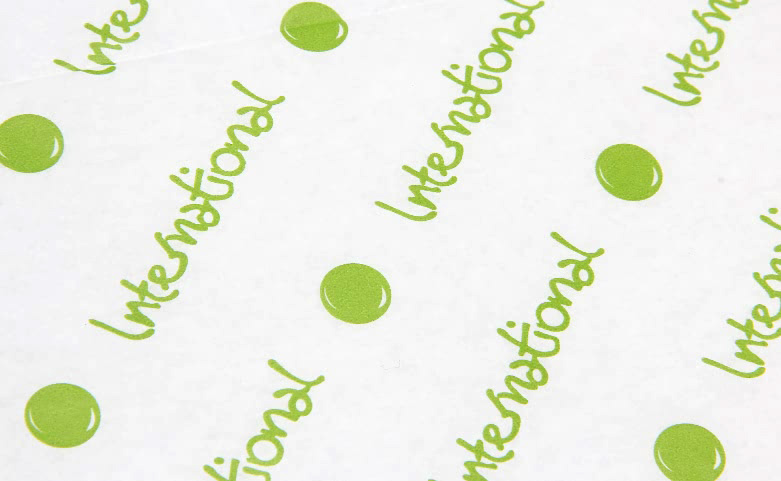 One-side White Kraft Wrapping Tissue Paper print