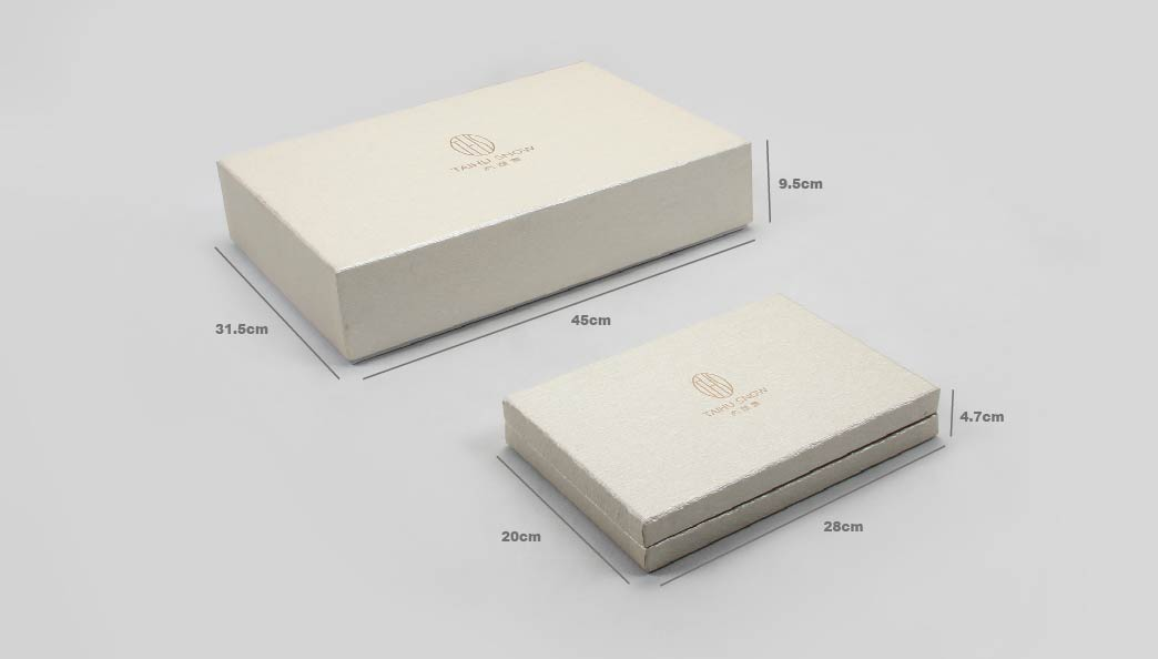 Premium Silk Home Textiles Packaging Boxes Set size