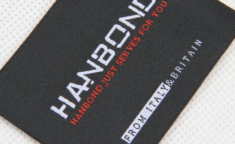 Premium Woven Labels Set For Men's Wear material