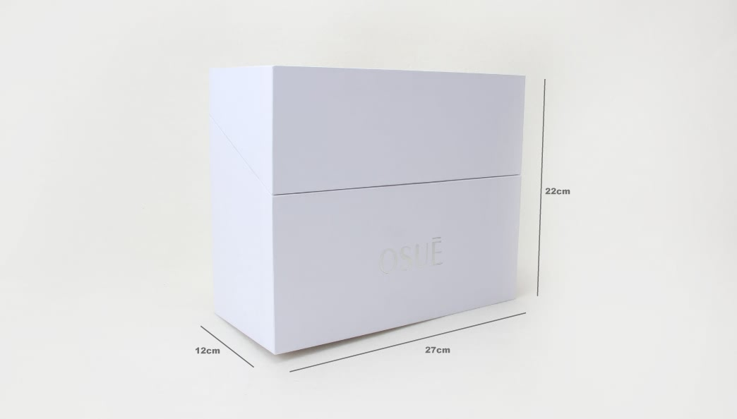 Pure White Cosmetic Business Gift Boxes size