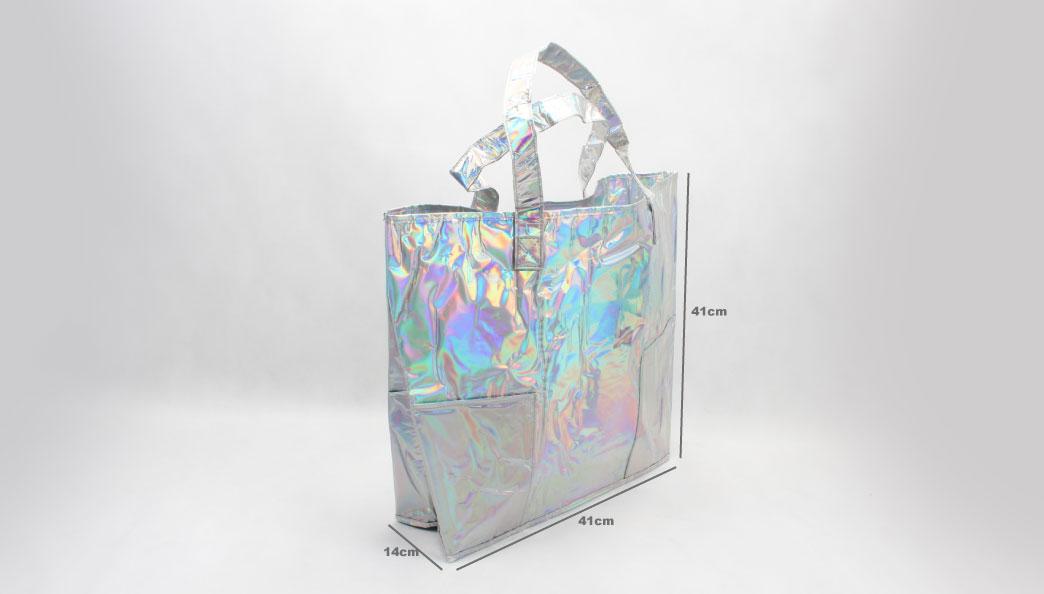 Rainbow PVC Shopping Bags size