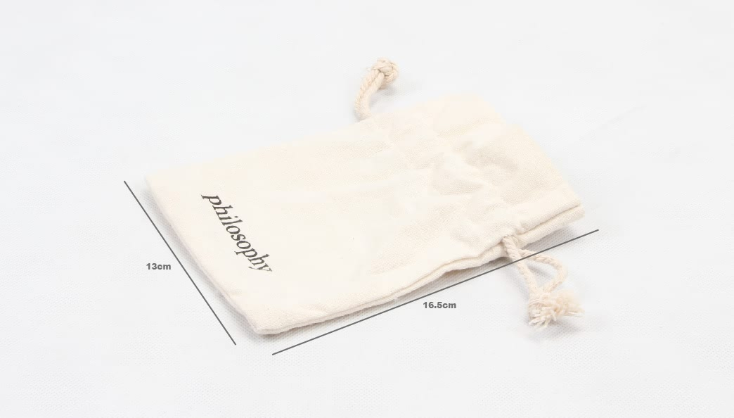 Small Cotton Cosmetic Drawstring Bags size