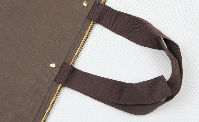 Special Brown Garment Paper Bags With Zipper Closure handle