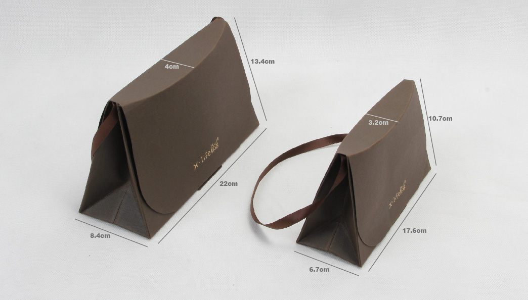 Stylish Gift Paper Bags Set With One Ribbon Handle size