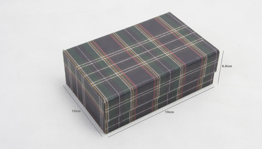 Grid World Scarf Packaging Boxes Size
