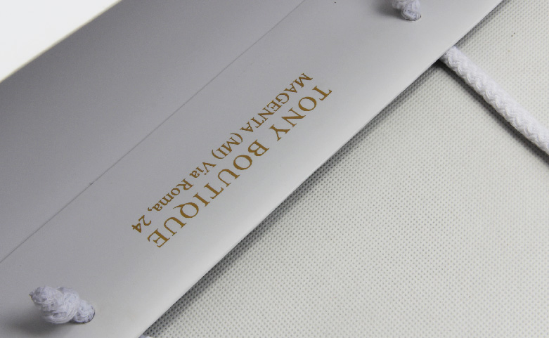 White Laminated Matt Garment Paper Bags Set technique
