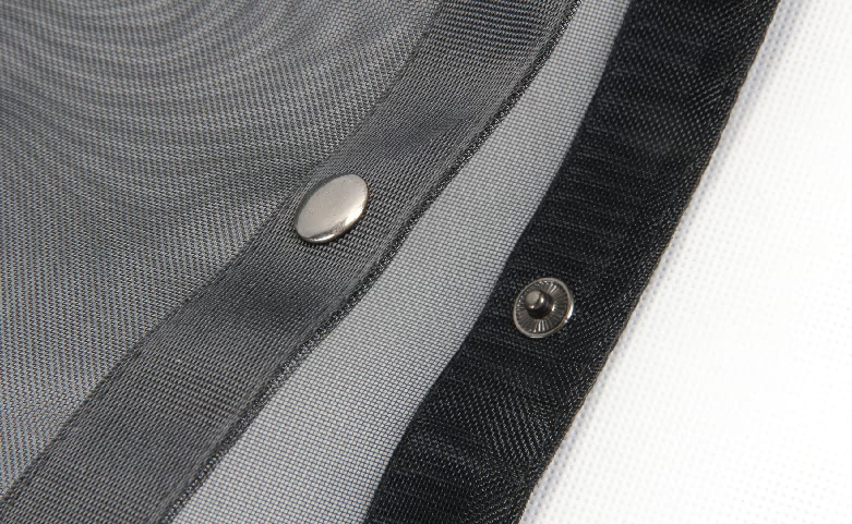 Black See-thru Mesh Nylon Tote Bags detail